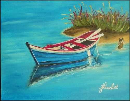 """Painting titled """"tranquility"""" by Angeliquejeannin, Original Art,"""