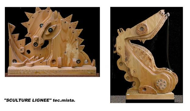 Sculture lignee - Painting, ©2004 by Angelo Mazzoleni -