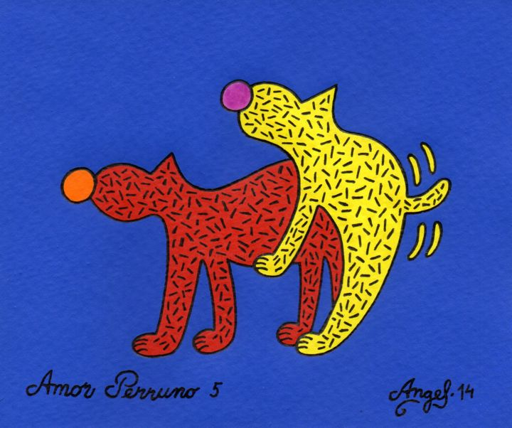 Amor perruno 5 - © 2014 perro, animales, color, dibujo Online Artworks