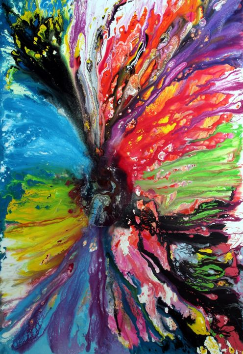 Energy - Painting,  300x200x4 cm ©2015 by Angelucci Luisa -                                        Conceptual Art, Canvas
