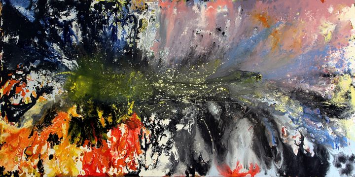 Esplosione - Painting,  121x241x4 cm ©2015 by Angelucci Luisa -                                        Conceptual Art, Other