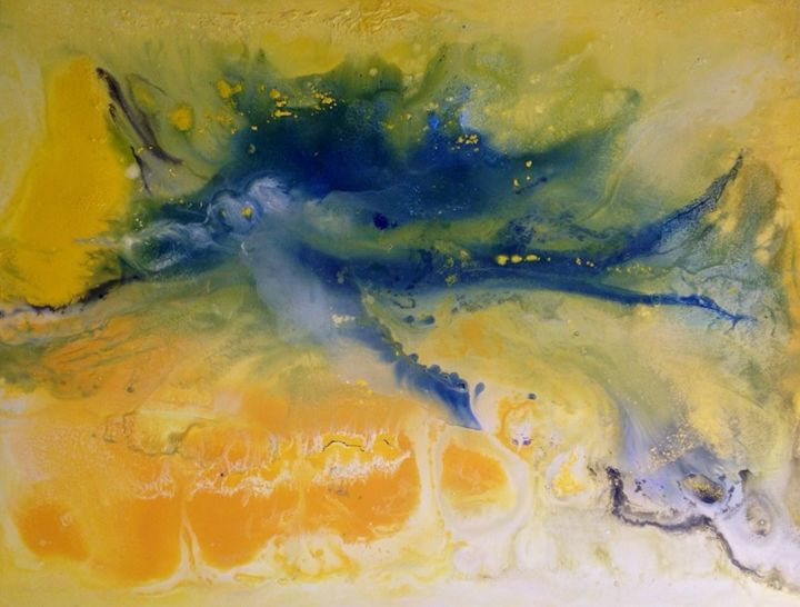 Air - Painting,  74x105x4 cm ©2015 by Angelucci Luisa -                                        Conceptual Art, Canvas