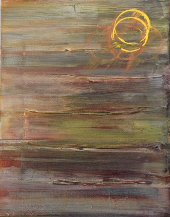 Dusk - Painting,  10x3x8 in, ©2014 by Angie Chapman -                                                                                                                                                                                                                                                                      Abstract, abstract-570, Abstract Art, Abstract, acrylic