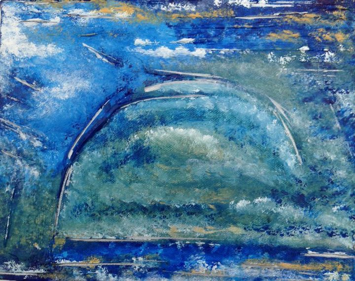 In The Mist - Painting,  8x10x1 in, ©2014 by Angie Chapman -                                                                                                                                                                                                                                                                      Abstract, abstract-570, Abstract Art, Abstract, acrylic