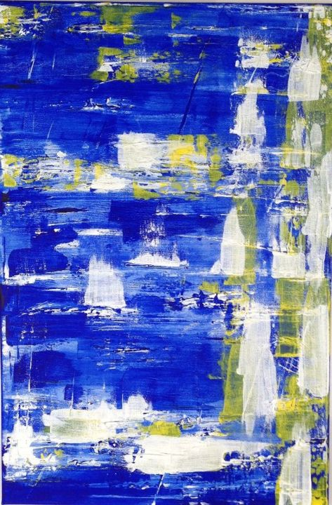 Watermarks - Painting,  24x1x16 in, ©2014 by Angie Chapman -                                                                                                                                                                                                                                                                      Abstract, abstract-570, Abstract Art, Abstract, acrylic