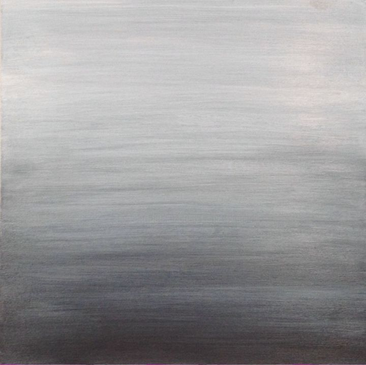 Shades of Gray - Painting,  2x10x10 in, ©2015 by Angie Chapman -                                                                                                                                                                                                                                                                                                                                                                                                                                                                                                                                              Abstract, abstract-570, Abstract Art, Black and White, abstract, acrylic, gray, black, white, sky, monochromatic