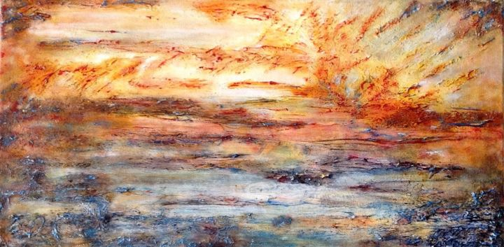 Beyond Vision - ©  abstract, abstract expressionism, contemporary, colors, sea, sky Online Artworks