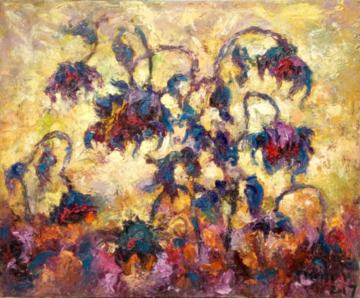 """Painting titled """"towards the sun"""" by Anh Tuan Le, Original Art, Oil"""