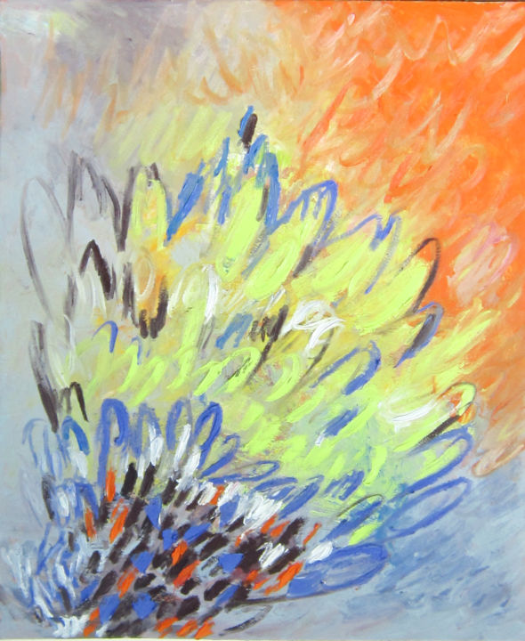 """Painting titled """"radiate incense"""" by Anh Tuan Le, Original Art, Oil"""