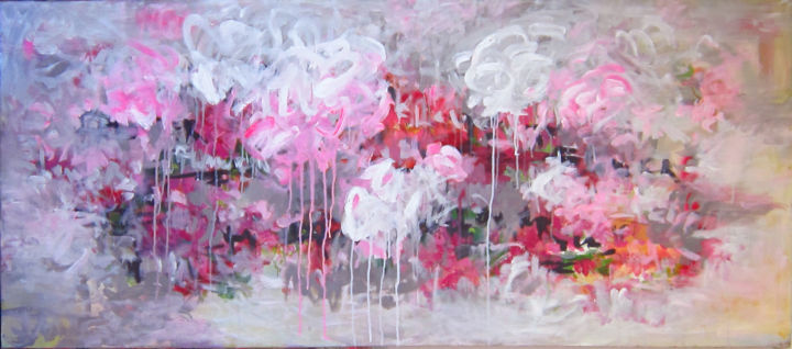 """Painting titled """"Diary bloom"""" by Anh Tuan Le, Original Art, Acrylic"""