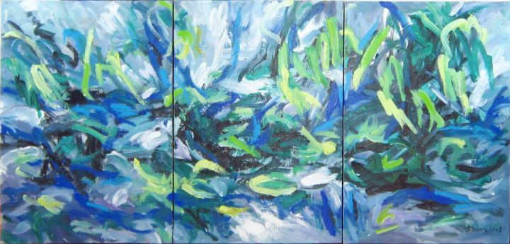 """Painting titled """"on the lake"""" by Anh Tuan Le, Original Art, Acrylic"""