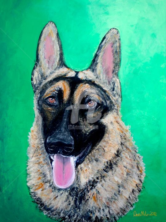 """Painting titled """"pets-for-photobook0…"""" by Ania M Milo, Original Art,"""