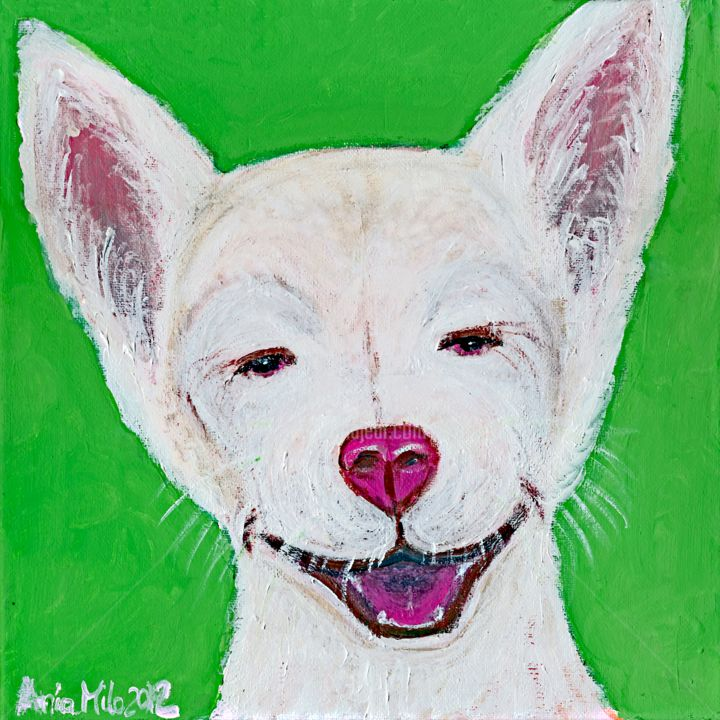 """Painting titled """"Tickle Me"""" by Ania M Milo, Original Art, Acrylic"""