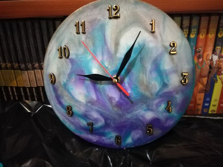 """Collages titled """"Clock"""" by Simionescu Elena, Original Art, Collages"""