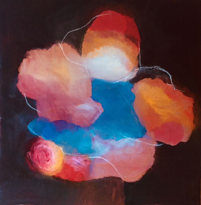 Painting, oil, abstract, artwork by Ann Lahti