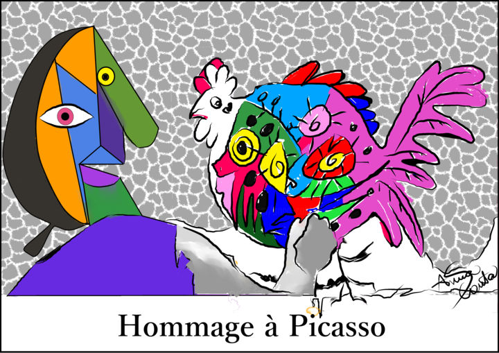 Hommage à Picasso - Digital Arts ©2018 by Anna Canta -