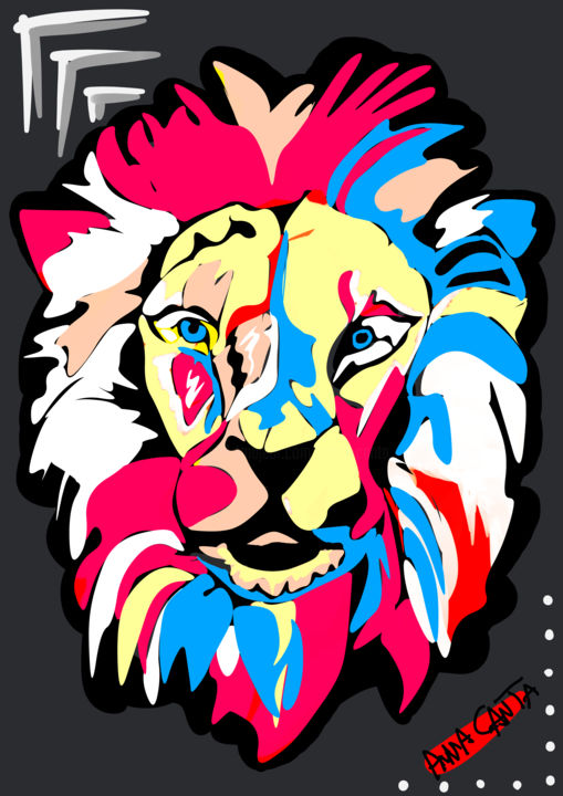 The Lion King - Digital Arts ©2019 by Anna Canta -            Anna Canta, Arte digitale, Digital art, The Lion, The Lion King