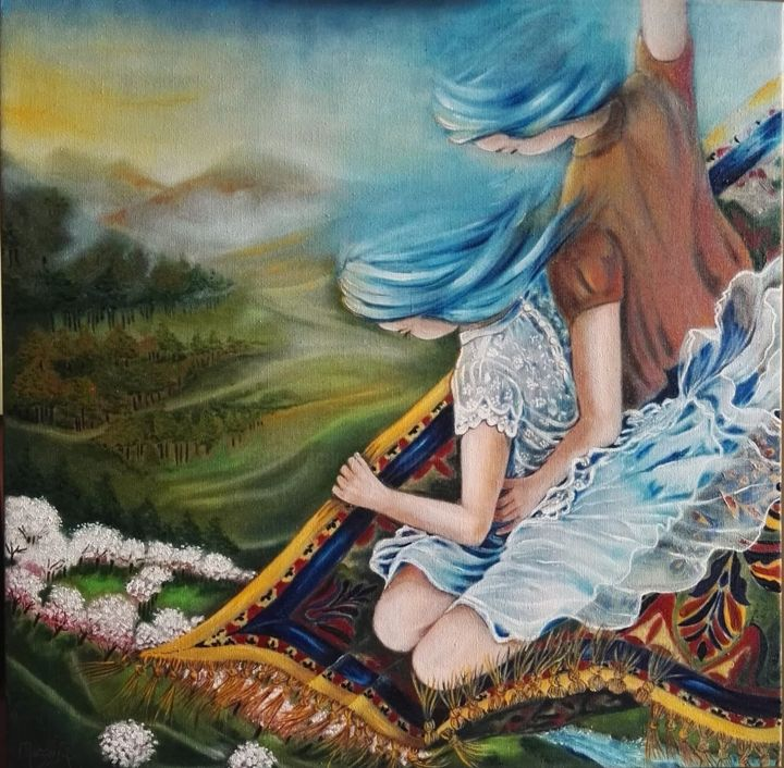 """Painting titled """"""""GIOIOSE DIMORE"""""""" by Anna Grisabella Nuzzo, Original Art, Oil"""