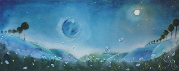 """Painting titled """"nuovo-mondo-2"""" by Anna Grisabella Nuzzo, Original Art, Oil"""