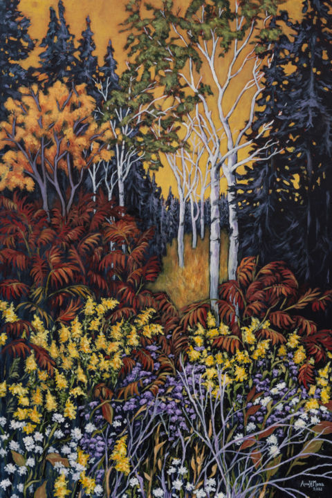 """Painting titled """"Glorious Fall"""" by Anne Heather Moore, Original Art, Acrylic"""
