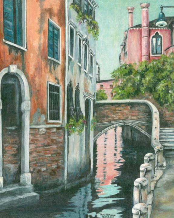 """Painting titled """"Venice"""" by Anne Heather Moore, Original Art, Oil"""