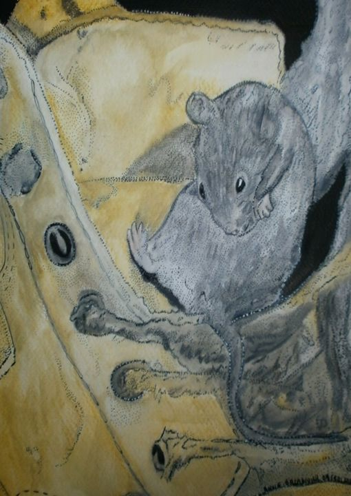 THE MOUSE AND  SHOE - ©  SOURIS Online Artworks