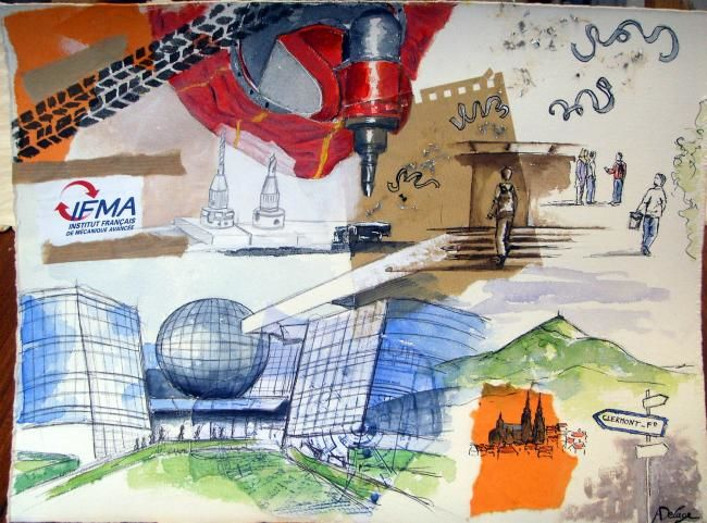 IFMA, Clermont-Fd - Painting, ©2010 by Annabelle Delage -