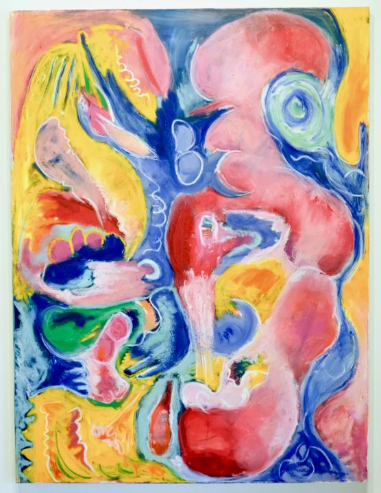 Painting, oil, abstract, artwork by Anne-Marie Delaunay-Danizio