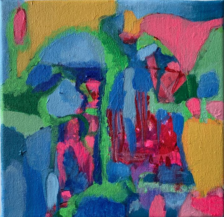 """Painting titled """"Arches"""" by Anne-Marie Delaunay-Danizio, Original Art, Acrylic"""
