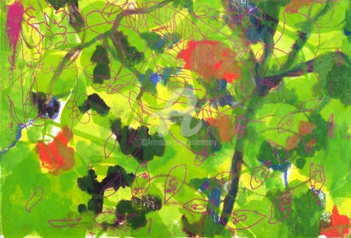Sans titre - Painting, ©2013 by Anne Maury -