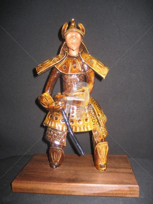 Guerrier samouraï - Sculpture ©2012 by Anne Schmitt -