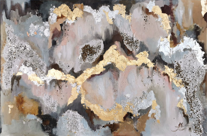 """Painting titled """"Foil painting on ca…"""" by Annet Loginova, Original Art, Acrylic"""
