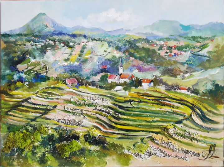 """Painting titled """"Tuscany Original Ar…"""" by Annet Loginova, Original Art, Oil Mounted on Stretcher frame"""