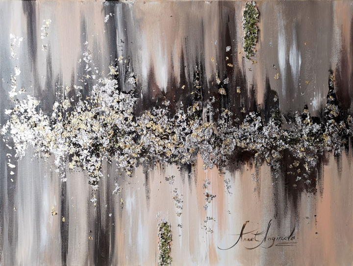 """Painting titled """"Loft abstract paint…"""" by Annet Loginova, Original Art, Acrylic Mounted on Stretcher frame"""