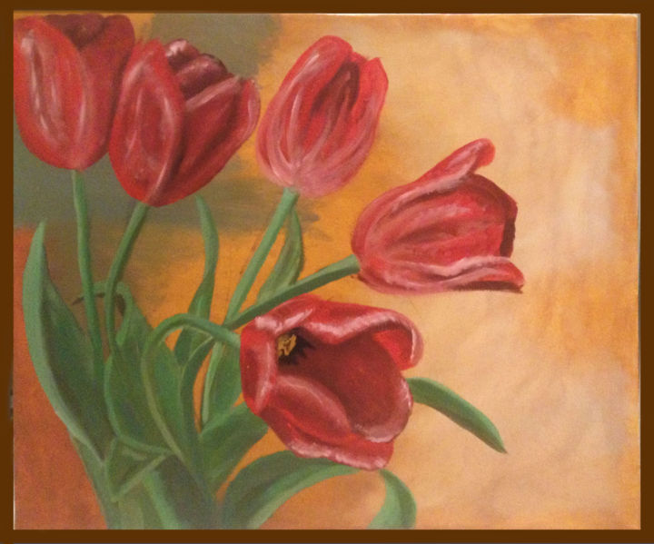 """Painting titled """"Dutch Tulips"""" by Annie Borbo, Original Art,"""
