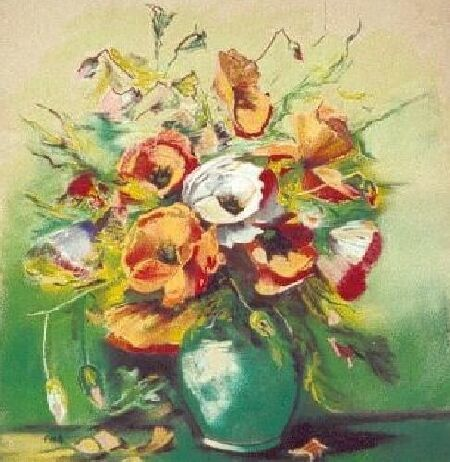 LES ANEMONES - Painting ©2006 by Annie Dite Ana Maillet -