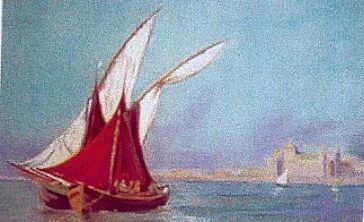 VOILES - Painting ©2006 by Annie Dite Ana Maillet -