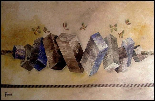 ds.jpg - Painting,  120x65 cm ©2011 by Abdelali Announi -                        Contemporary painting