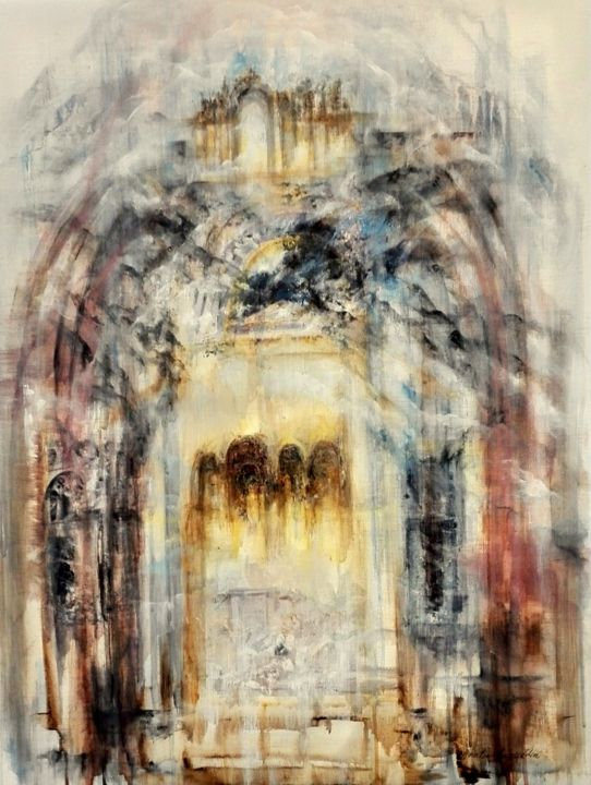 """Painting titled """"city-of-dreams"""" by Ann-Pia Azizuddin, Original Art,"""