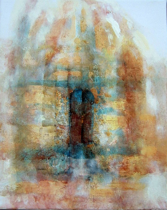 """Painting titled """"Door opening"""" by Ann-Pia Azizuddin, Original Art, Acrylic"""