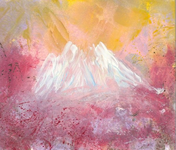 """Painting titled """"Volcano"""" by Ann Snow, Original Art,"""