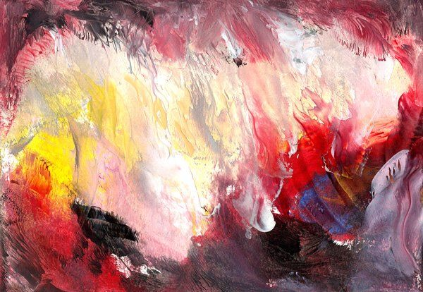 """Painting titled """"Edge of the Volcano"""" by Ann Snow, Original Art,"""