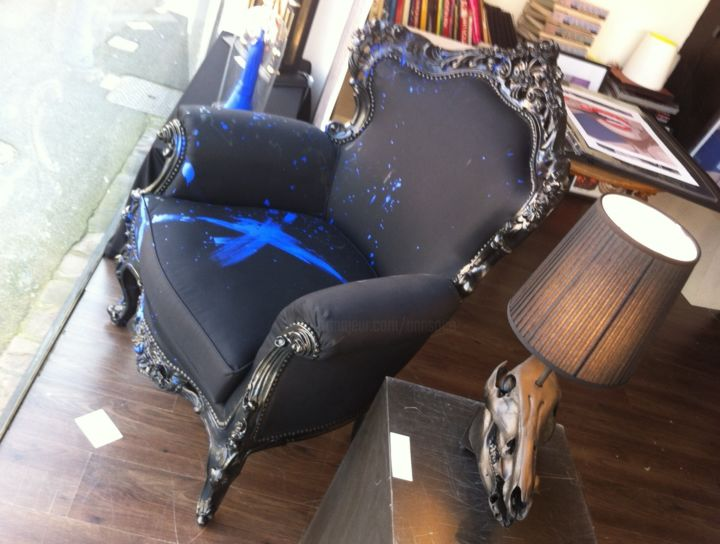 Fauteuil Barocko Majorelle Painting By Annsoco Artmajeur