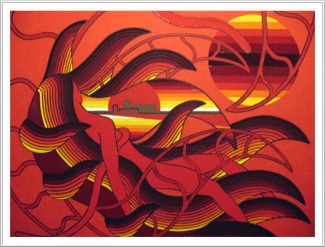 08-ROSSO.jpg - Painting,  15.8x19.7 in, ©2011 by Francesco Venier -