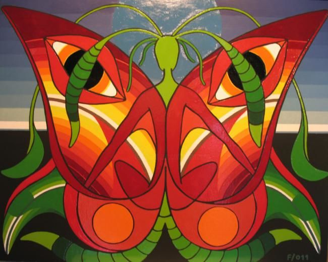 THE_BUTTERFLY_LIFE.jpg - Painting,  40x50 cm ©2011 by Francesco Venier -