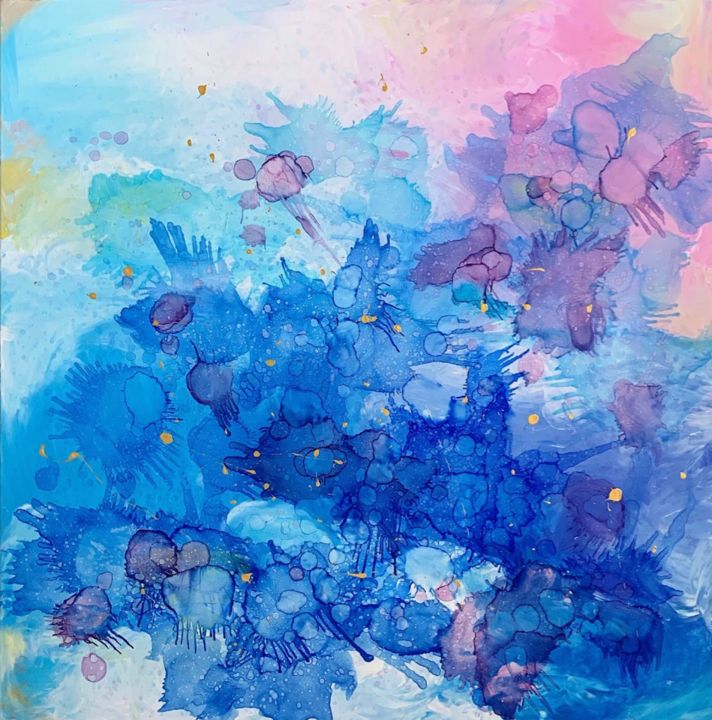 """Painting titled """"Dreams in sky inter…"""" by Insomnia Art, Original Art, Acrylic"""