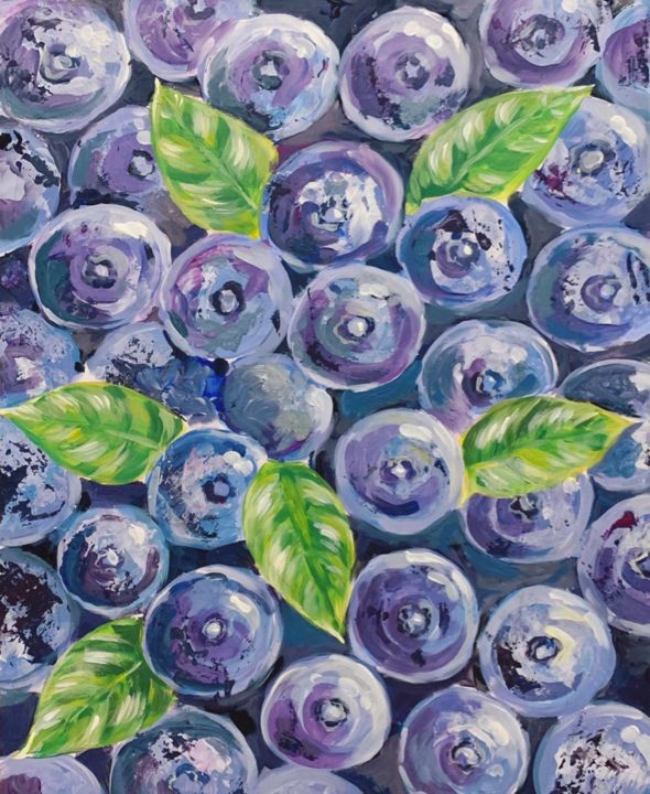 """Painting titled """"Blueberry"""" by Insomnia Art, Original Art, Acrylic"""