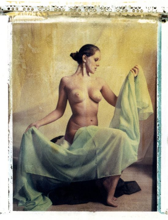 polaroid-nude-frank-morris.jpg - Mixed Media ©2015 by Frank Morris -                                                            Classicism, Paper, Nude, polaroid, transfer, nude, portrait, unique, digigraphie