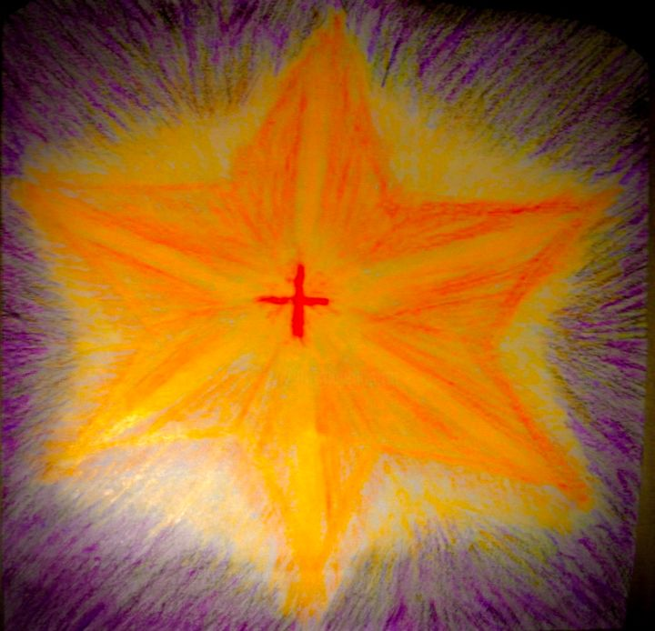 """Drawing titled """"The Light Within"""" by Anthony Spitaliere, Original Art, Pencil"""