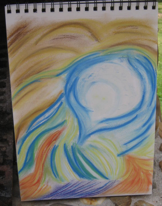 """Drawing titled """"SPIRIT OF THE ASHES"""" by Anthony Spitaliere, Original Art,"""